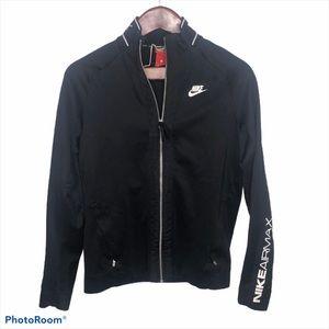 Nike Air Max Jacket Black Spellout Sweatshirt S